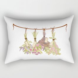 Herbs in Pastel Colors . Rectangular Pillow