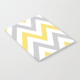 Gray & Yellow Chevron Notebook