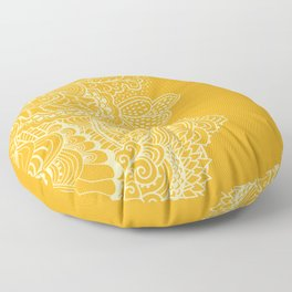 Marigold Mehndi Floor Pillow