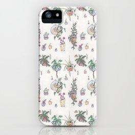 Houseplant Pattern iPhone Case