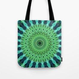 Green and blue mandala Tote Bag