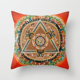 Buddhist Mandala 43 Mahakala Shri Devi Throw Pillow
