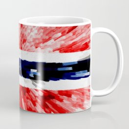 Extruded Flag of Norway Coffee Mug