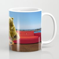 bleach Mugs featuring Bleach Blonde Bear by Bemular