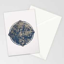 Blue Squircle Stationery Cards