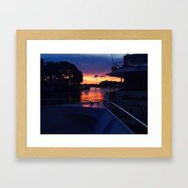 Sunset from the Yacht Framed Art Print