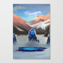 Standing Stones in Winter Canvas Print
