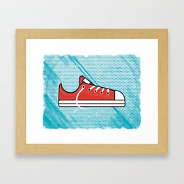 Red Chucks Framed Art Print