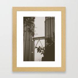 Bridge between Twin Towers Framed Art Print