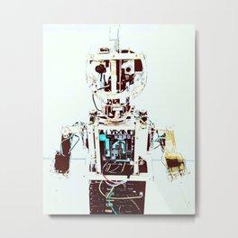 Retro Robot3 Metal Print
