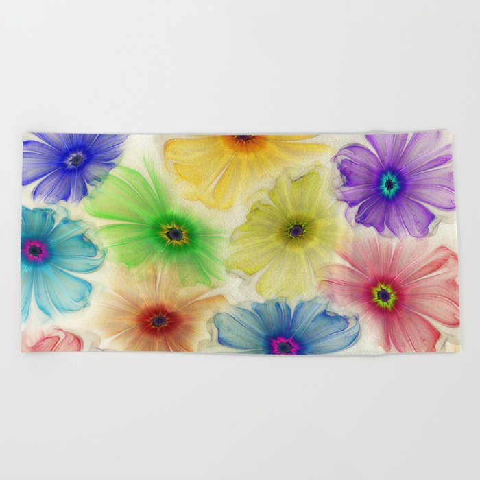 Flowers for Eternity Beach Towel