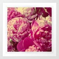 peonies Art Prints featuring Peonies by Chelsea Merola