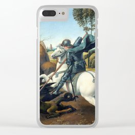 Raphael Saint George and the Dragon Clear iPhone Case