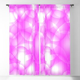 Gentle intersecting pink translucent circles in pastel colors with a crimson glow. Blackout Curtain