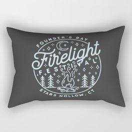 Firelight Festival Rectangular Pillow