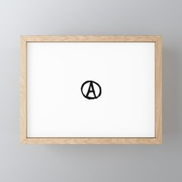 Symbol of anarchy bw Framed Mini Art Print