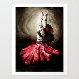 Dancer of Light Art Print