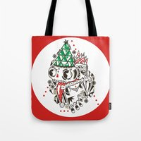fez Tote Bags featuring Fez by Polypop