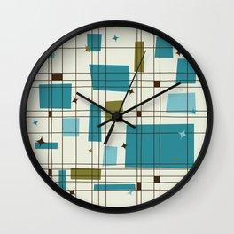 Mid-Century Modern (teal) Wall Clock