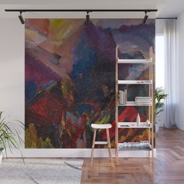 'Sunrise in the mountains, picos de asturias' by David Bomberg Wall Mural