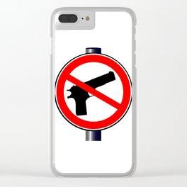 No Guns Alowed Clear iPhone Case