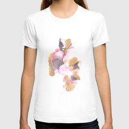 Watercolor Pink Black Flow   [dec-connect] 7. messy T-shirt