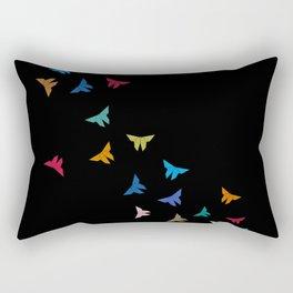 Flying Origami Butterflies Rectangular Pillow
