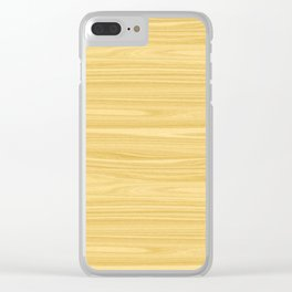 Ash Wood Texture Clear iPhone Case