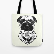 Dog - Tattooed Pug Tote Bag