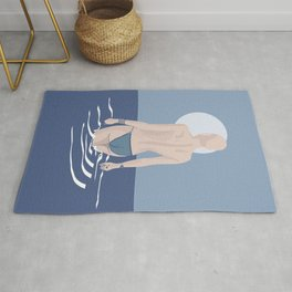 The girl from Budva in classic blue Rug