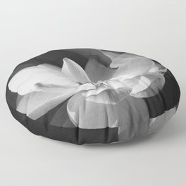 Lotus Blossom in bloom, tropical black and white photograph / art photography by Edward Steichen Floor Pillow