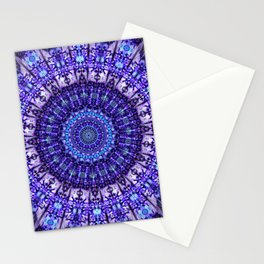 Indulgence of lavendery details in the lace mandala Stationery Cards