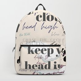 inspirational quote design Backpack