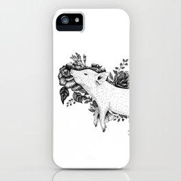 Pig - Go Vegan iPhone Case