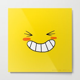 Happy Face Metal Print