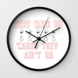 New England Football Shirt - They Hate Us 'Cause They Ain't Us Wall Clock