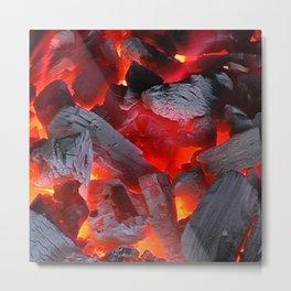 Glowing Coals Metal Print