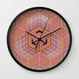 Flower of Life Cube Wall Clock