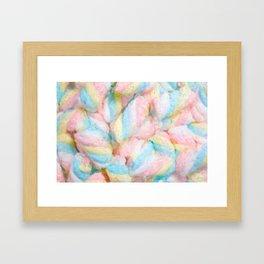 Pastel Marshmallows Painting Framed Art Print