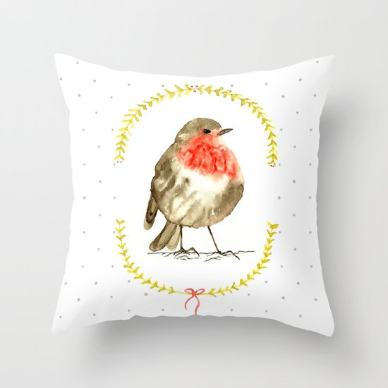 winterbird Throw Pillow