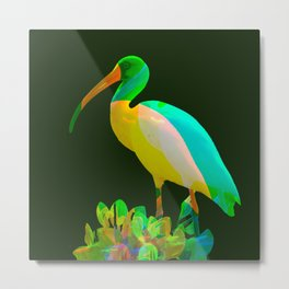 Deep green Ibis Metal Print