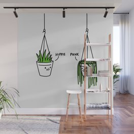 Hippie and Punk plants Wall Mural