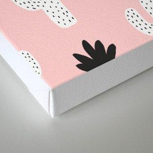 Pink n Black Cactus Canvas Print