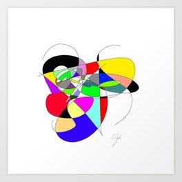 Repetition of the colour Art Print