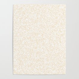 Tiny Spots - White and Champagne Orange Poster