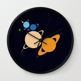 Solar System Unicorn Wall Clock