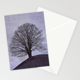 Tree in purple Stationery Cards