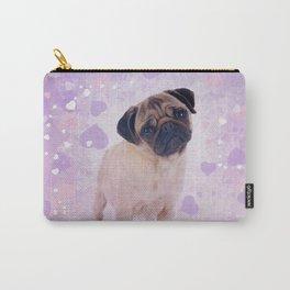 Cute Pug and heats Digital Art Carry-All Pouch