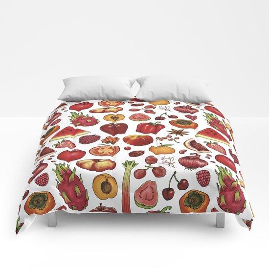 Red Food Comforters
