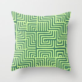 Stich Green Throw Pillow